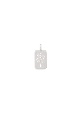 PILGRIM Silver-Plated Tree Cutout Charm