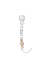 LouLou Lollipop LouLou Lollipop Pacifier Clip Marble Grey