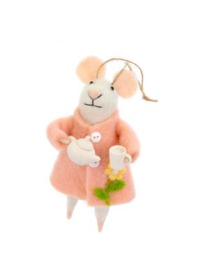 Tea Time Tabitha Mouse Ornament