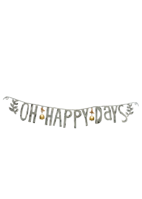 Oh Happy Days Metal Garland