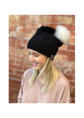 Dreams Pom Pom Hat Black by Canada Bliss