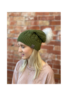 Dreams Pom Pom Hat Vine Green by Canada Bliss