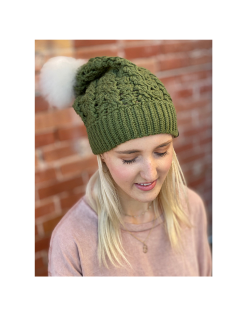 Dreams Pom Pom Hat Vine Green by Canada Bliss