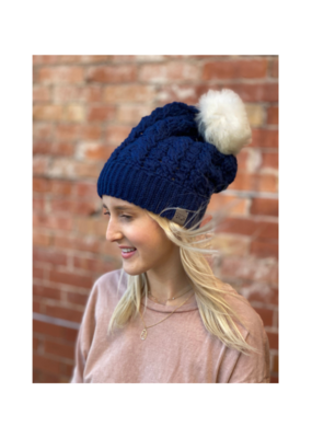 Dreams Pom Pom Hat Deep Blue by Canada Bliss