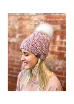 Tranquility Pom Pom Hat Rose by Canada Bliss