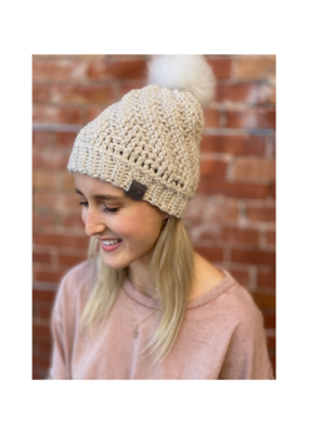 Tranquility Pom Pom Hat Cream by Canada Bliss