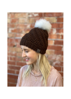 Tranquility Pom Pom Hat Chocolate by Canada Bliss