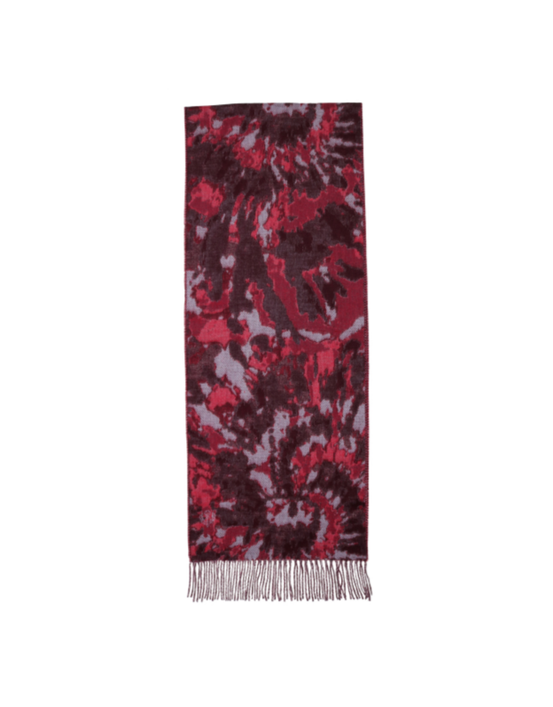 Tie Dye Cashmink Scarf Purple by Fraas