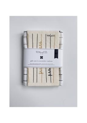 Ten & Co. Swedish Dish Cloth & Towel Gift Set Falala Black