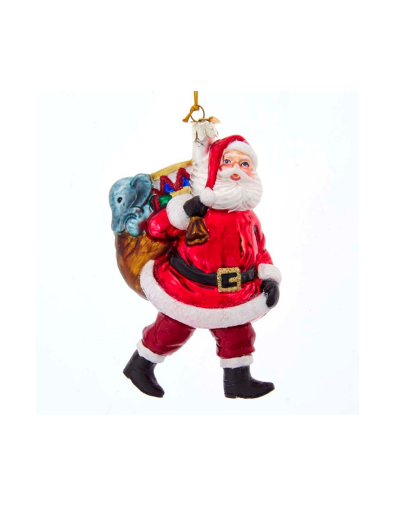 Noble Gems Santa with Bag of Gifts Ornament