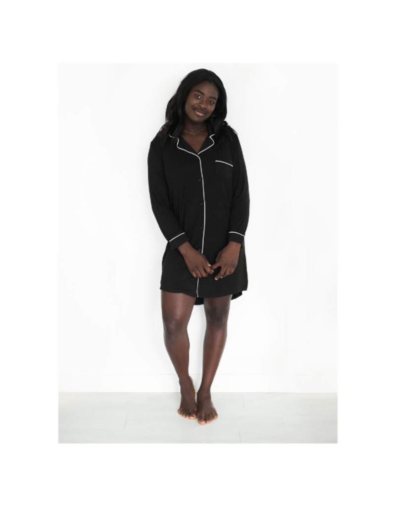 riot theory Elliot Nightie in Black by Riot Theory