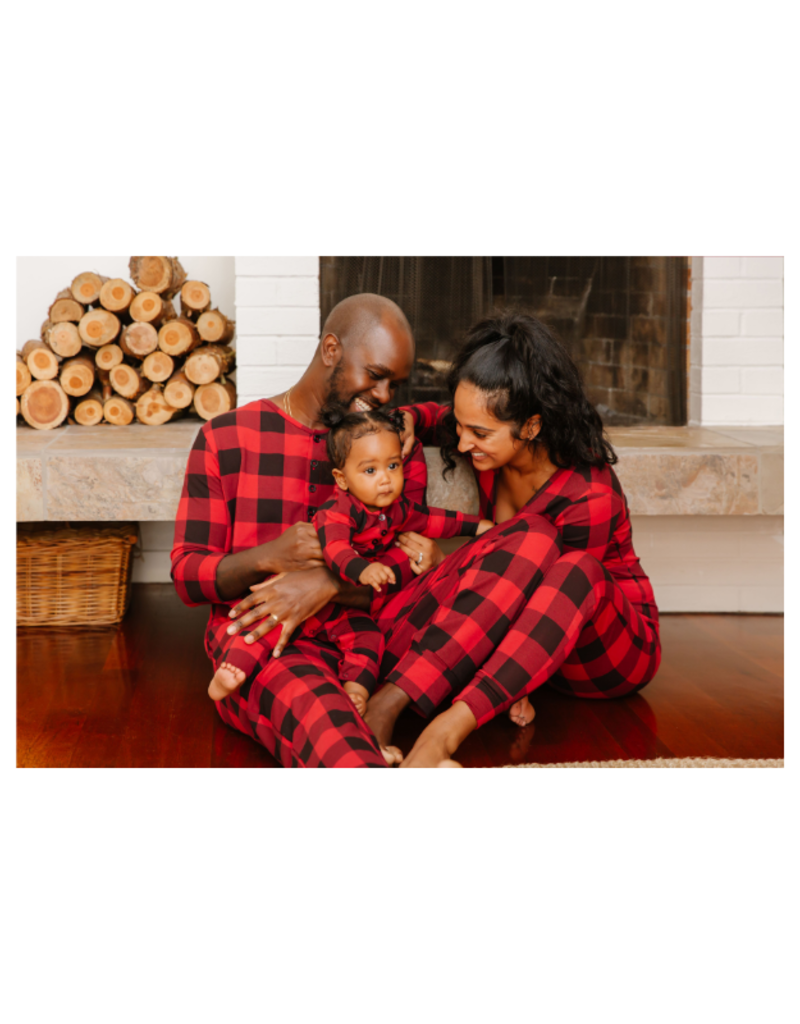Smash + Tess PRE-ORDER! Present Guy Romper in Poinsetta Red by Smash + Tess