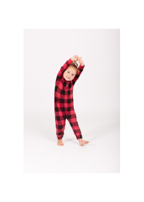 Smash + Tess PRE-ORDER! Present Toddler Romper in Poinsetta Red by Smash + Tess