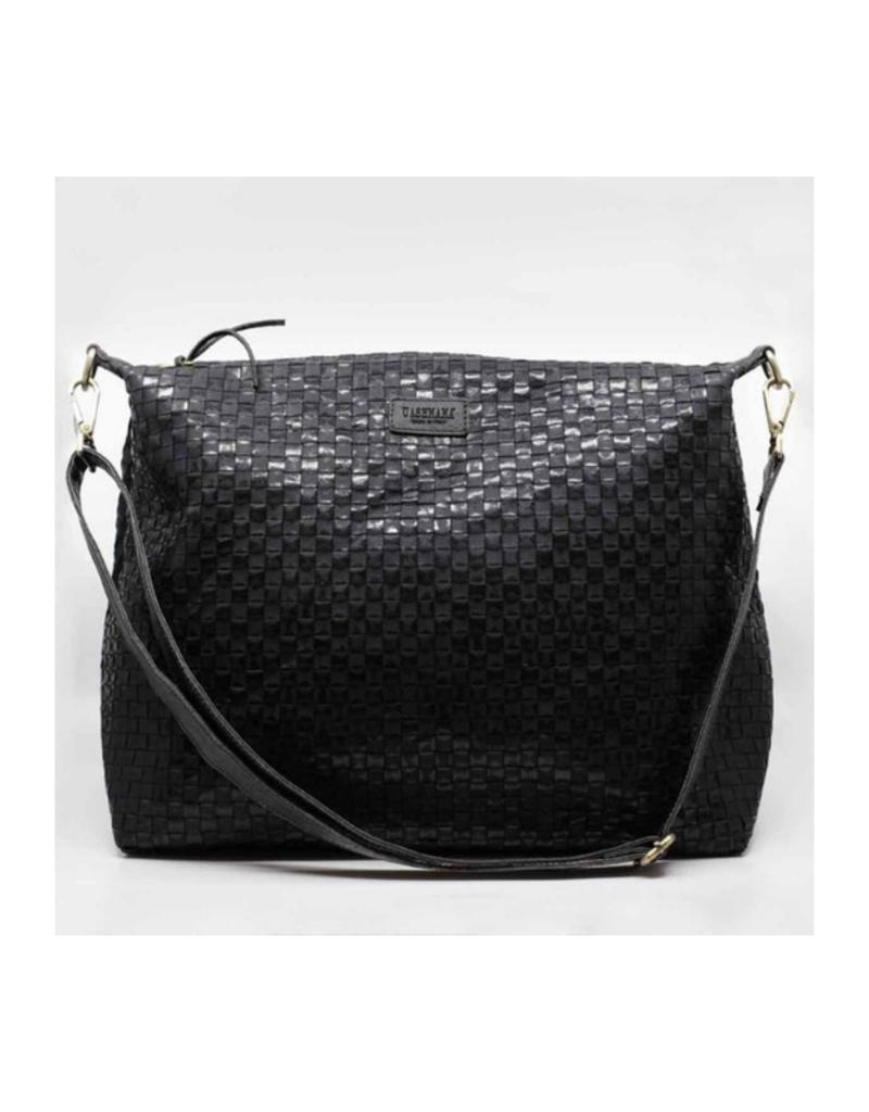 uashmama Small Gemma Woven Bag in Black