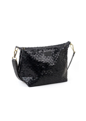 uashmama Small Gemma Woven Bag in Black