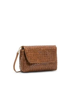 uashmama Large Terme Woven Handbag in Cuoio