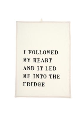 """I Followed My Heart"" Tea Towel"