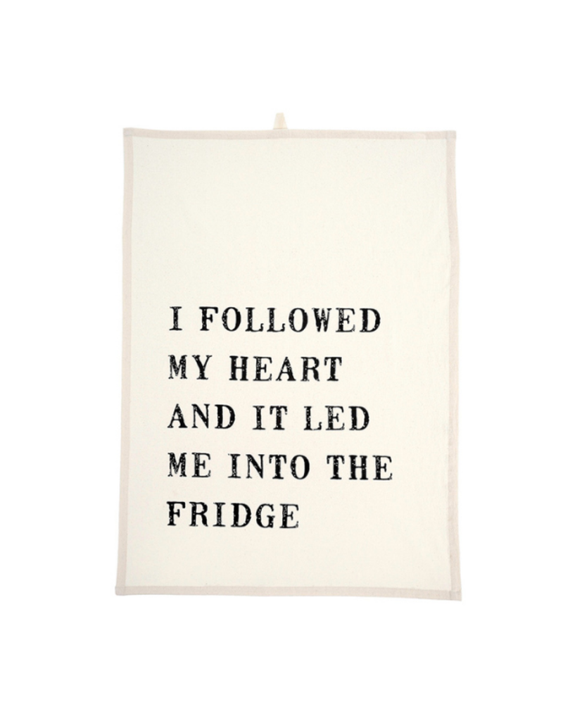 "Indaba Trading ""I Followed My Heart"" Tea towel"