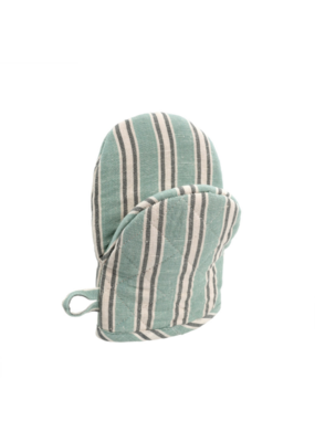 Indaba Trading French Linen Oven Mitt in Turquoise