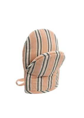 Indaba Trading French Linen Oven Mitt in Pink