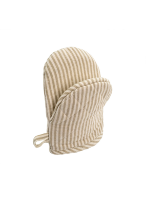 French Linen Oven Mitt in Taupe