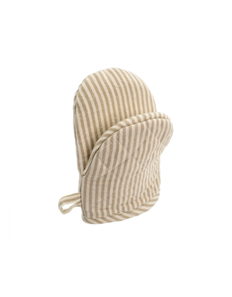 Indaba Trading French Linen Oven Mitt in Taupe