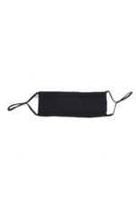 lemonwood Silk Pleated Mask in Black