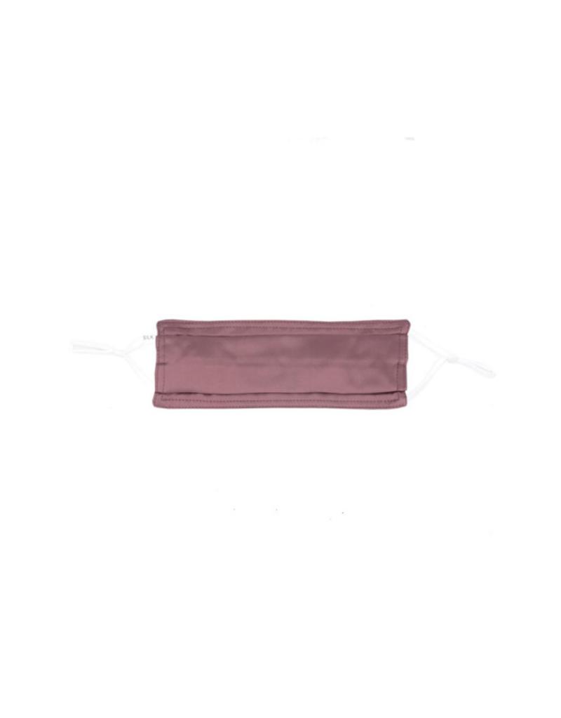 lemonwood Silk Pleated Face Mask in Mauve