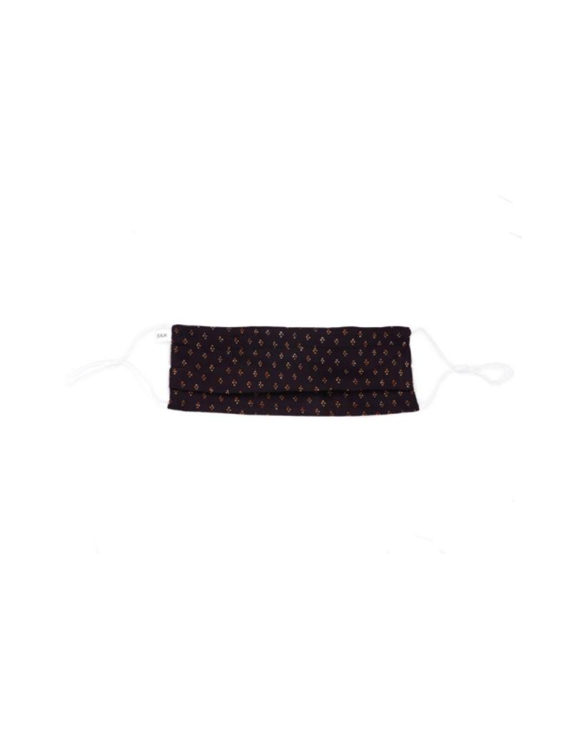 lemonwood Silk Pleated Mask in Dot Print