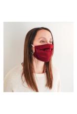 lemonwood Silk Pleated Face Mask in Burgundy