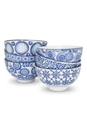 "4"" Blue and White Assorted Rice Bowl"