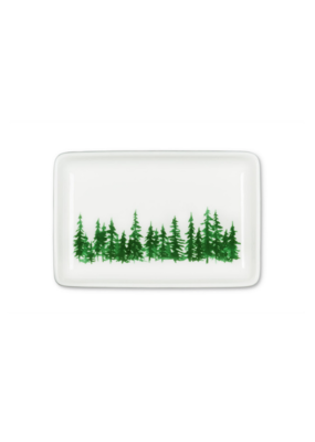 Evergreen Forest Rectangular Tray