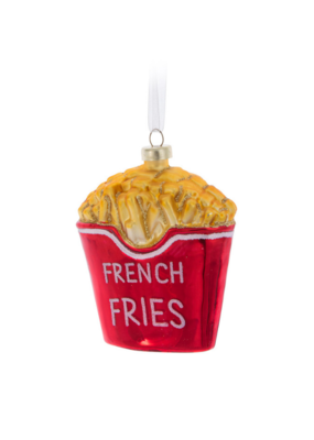 Glass French Fries Ornament