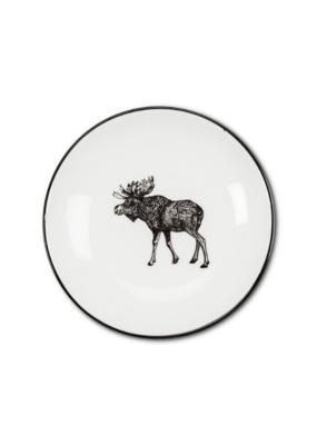 """5"""" Round Moose Pin Dish Moose"""