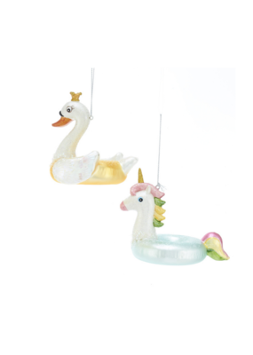 Noble Gems Swan/Unicorn Ornament