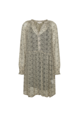 Part Two Franja Dress in Smoke Grey Texture Print by Part Two