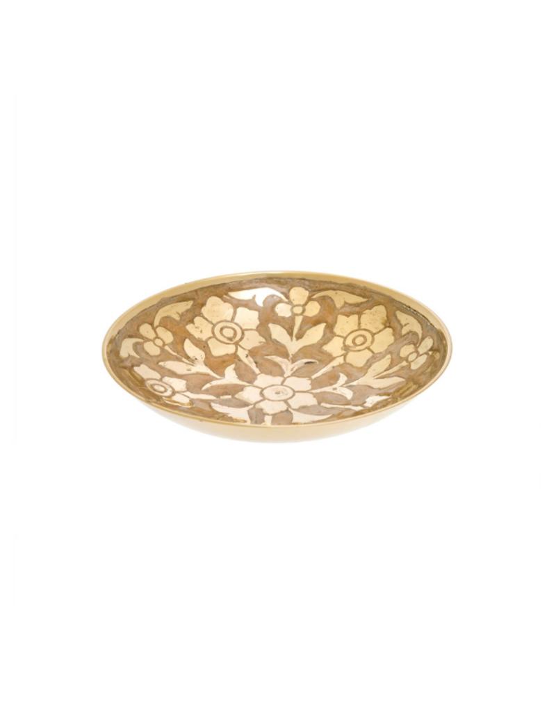 Indaba Trading Medium Primrose Brass Decor Bowl