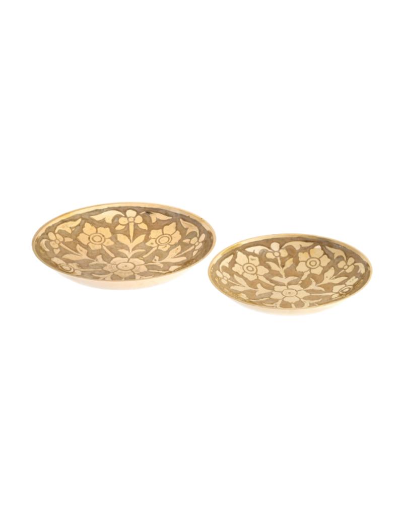 Indaba Trading Large Primrose Brass Decor Bowl