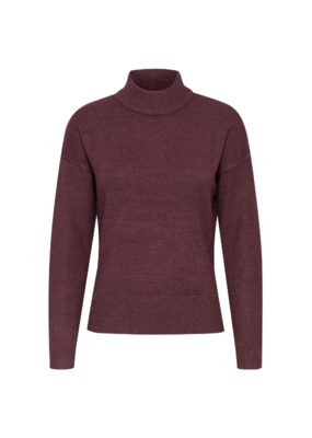 b.young Nonina Turtleneck in Winetasting Melange by b.young