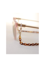 Lover's Tempo Glasses & Mask Chain in Tortoise by Lover's Tempo