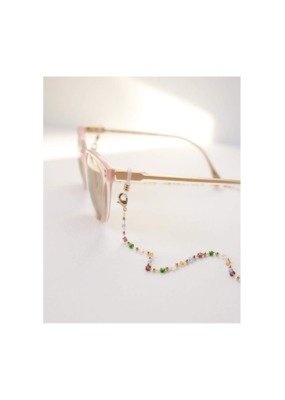 Lover's Tempo Glasses & Mask Chain in Prism Multi by Lover's Tempo