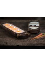 himalayan trading post Small Wood Candle Tray Grapefruit Pine by Himalayan Handmade Candle
