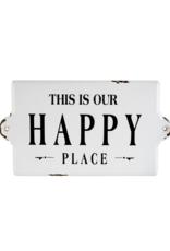 Indaba Trading Happy Place Large Enamel Sign