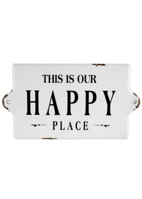 Happy Place Enamel Sign