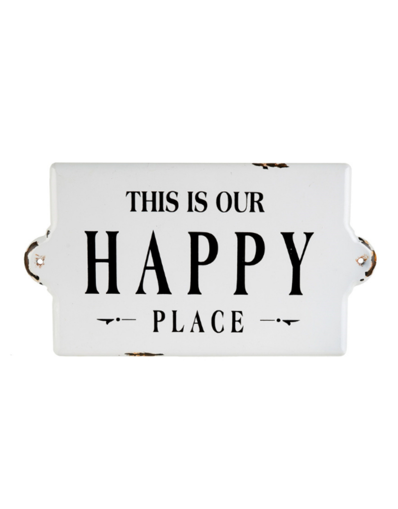 Happy Place Large Enamel Sign