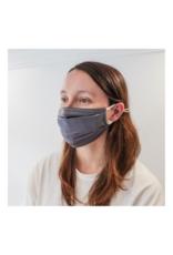 lemonwood Silk Face Mask Steel Grey Pleated