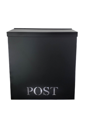 """POST"" Stanley Iron Mailbox in Black"