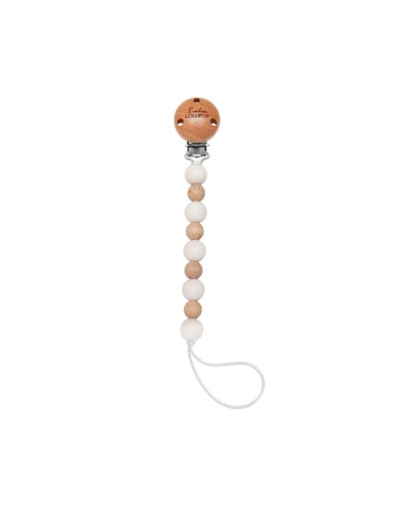 LouLou Lollipop LouLou Lollipop Celeste Pacifier Clip Ecru