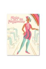 Flight To Funkytown Birthday Card