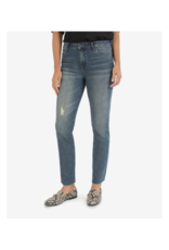 Kut from the Kloth Chrissie High Rise Slim Denim in Outgoing Wash by Kut from the Kloth